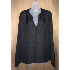 Black Polka Dot Top by A New Day Large NWT